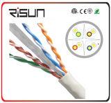 Высокоскоростная ая двуустка кабеля 100m сети 0.56cu U/UTP CAT6
