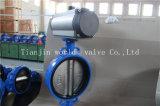Válvula de borboleta da bolacha do atuador pneumático com o ISO do Ce aprovado (D67X-10/16)
