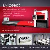 Machine de découpage de laser de fibre d'acier du carbone de Lamy