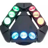9PCS*10W indicatore luminoso capo mobile del ragno del mini triangolo 4in1 del CREE RGBW