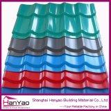 Hoja acanalada de acero galvanizada para la pared o el material para techos