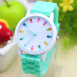GroßhandelsColorful Fashion Silicone Jelly Watch mit Cheaper Price