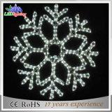 Indicatore luminoso esterno di motivo della decorazione del LED di grande natale bianco dei fiocchi di neve
