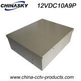 9개의 사진기 (12VDC10A9P)를 위한 상자에 넣어진 중앙 전력 공급