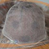 가득 차있는 레이스 기초 PU는 모든 모자를 오래 느슨하게 물결친다 가발을 입혔다