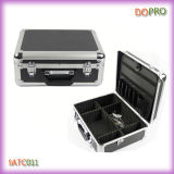 Diamond negro ABS Surface Aluminum Tool Caso para Hairdresser (SATC011)