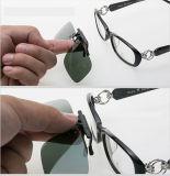 UV400 polarizó el clip de las gafas de sol en las gafas de sol Antis-UVA del mecanismo impulsor de Aviate de Sun de los vidrios de los hombres de la lente de color verde oscuro unisex estupenda ligera de las lentes