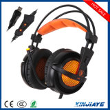 USB Stereo Vibration Gaming Headphones Sades A6 7.1 с Mic Noise Isolating СИД Lights