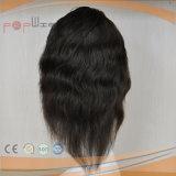 インドのRemyの自然な波状の人間の毛髪の完全なレースの手によって結ばれるかつら