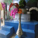 Vase à fleur en gros d'acier inoxydable d'or de Rose de décoration de maison de salle de séjour de modèle de mode