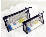 Validar la orden de encargo y el bolso plástico de costura claro superior de la cremallera de la cremallera