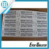 白い印刷のシールをコードする卸し売り番号モデル