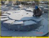 Ajardinar em volta do teste padrão da pedra de pavimentação