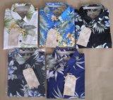 Der 100% gekämmten Baumwollmänner Sleeve kurz hawaiische Hemden