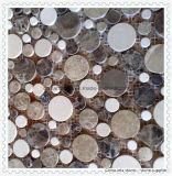 Mosaico de mármore branco do mosaico de pedra da natureza para a parede do material de construção da casa e a telha de assoalho em America do Norte
