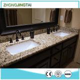Matériau artificiel de salle de bains de partie supérieure du comptoir d'éclaboussure Integrated de côté