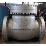Valvola di ritenuta industriale dell'oscillazione dell'estremità della flangia dell'acciaio di getto di uso dell'ANSI