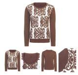 Le donne di miscela del cachemire hanno lavorato a maglia il maglione