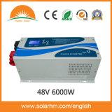 (W9-60248) 6000W48V 저주파 잘 고정된 순수한 사인 파동 태양 변환장치