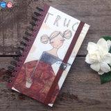carnet de notes à spirale blanc adapté aux besoins du client par 40k avec le ruban élastique