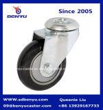 Rueda industrial del echador del poliuretano negro de poca potencia medio