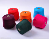 Ne 30s/1 Dyed Polyester Spun Yarn für Knitting Socks \ Carpet \ Curtain
