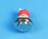 19mm IP68 imperméabilisent le commutateur de bouton poussoir en métal de vis (GQ-19B/H/F)