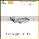 Gesundheitlicher Ware-Badezimmer-Zubehör-Chrom-Seifen-Korb