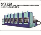 Één Machine van de Schoen van het Afgietsel van het Sandelhout van de Pantoffel van de Injectie van EVA van de Kleur Plastic