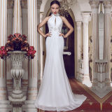 Halter Chiffon Real Photos Slim A-Line Wedding Dresses (TM-MS010)