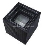 Marco de aluminio de los muebles de Morden del crisol al aire libre de la planta con el crisol de flor tejido rota (YTG010)
