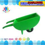 정원 재미 실행 플라스틱 단 하나 바퀴 덤프 트럭 아이들 장난감 유치원 아이들 외바퀴 손수레 (XYH-12083-7)