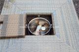 Tabella pranzante e presidenza del rattan disegno di vimini esterno del giardino di nuovo