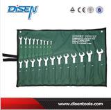 Clé d'extrémité de boîte emballée par poche de toile de la norme ANSI 6PS (6-17mm)