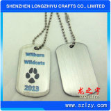 주문을 받아서 만들어진 Metal Words Dog Tag, Enamel Plated Gold 및 Nickel Tag