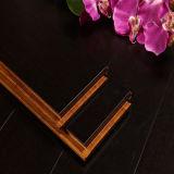 Peinture en bambou de noir de plancher tissée par rive