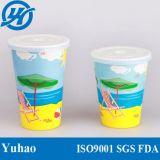 Kaltes Getränk-Papierwegwerfcup mit Kappe