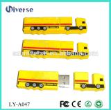 3D personalizzano il regalo corporativo del camion, azionamento istantaneo della penna del USB del disco di figura U del camion del PVC