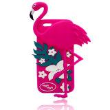iPhone (XSDW-030)のためのピンククレーン漫画のシリコーンの電話箱