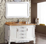 Floor novo Standing Solid Wood Antique Bathroom Vanity com Mirror