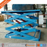 1t estacionario Plataforma elevadora de tijera Pesado / Elevador hidráulico / Capacidad de conducción de gran superficie Trabajo