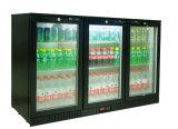 холодильник штанги задней части двери качания 320L 3 стеклянный