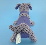 Giocattolo viola del cane di animale domestico della peluche con Squeaker all'interno