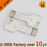 USB Shaped Pendrive da chave feita sob encomenda do logotipo 1/2/4/8/16/32/64/128GB (YT-3213-07L)