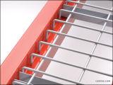 Decking do engranzamento de fio de aço do armazenamento do armazém