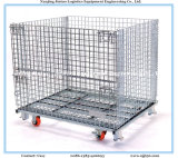 Warehouse Storage를 위한 Wheels를 가진 Foldable Steel Wire Mesh Cage