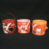 коробка цилиндра пробки изготовленный на заказ печати пластичная (круглая коробка)