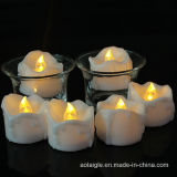 Cr2032 Battery를 가진 하락 Tear Shape Yellow Light LED Tealight Candle
