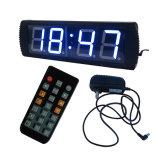 """4 """" 4 손가락 LED 디지털 파란 색깔 시계는, 정규 시계 및 Countdown/up 기능을 지원한다"""