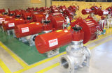 Api 6D a modifié le premier robinet à tournant sphérique en acier d'entrée